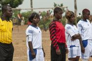 Team captain Ruth (second from left). Her team went on to win the final of the 'Red Cross Tournament for Solidarity and Dialogue.'