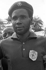 A Biafran Red Cross worker.