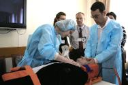 Personnel from northern Caucasus hospitals take part in an ICRC emergency room trauma course.