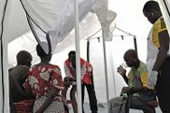 Volunteers from the South Sudan Red Cross spotted this women suffering from cholera during their house-to-house public awareness campaign.