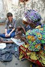 Photo, Democratic Republic of Congo, an ICRC delegate meets with detainees.