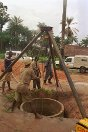 Sierra Leone. District of Port Loko. Water-well construction