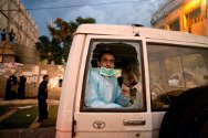 Yemen, 2011. Ambulances take huge risks during armed conflicts to reach and transport the wounded and can fall victim to stray bullets.