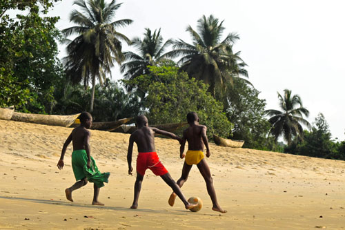 beach in Kribi, Cameroon.