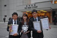 High Court, Hong Kong. The winners of the 10th Red Cross IHL moot court competition: the University of Hong Kong.