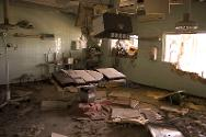 Libya, 2011. The main operating theatre of a hospital in ruins after sustained bombardment.
