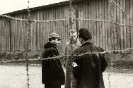 Second World War, 1939-1945. Germany. An ICRC delegate visits a prisoner-of-war camp. The ICRC made more than 11,000 such visits during and immediately following the war.