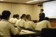 Ichigaya, Tokyo, July 2009. The ICRC gives a presentation during a workshop on the treatment of prisoners of war organized by the Japanese defence ministry.