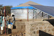 Eritrea, southern Debud. Solar-powered water-supply systems.