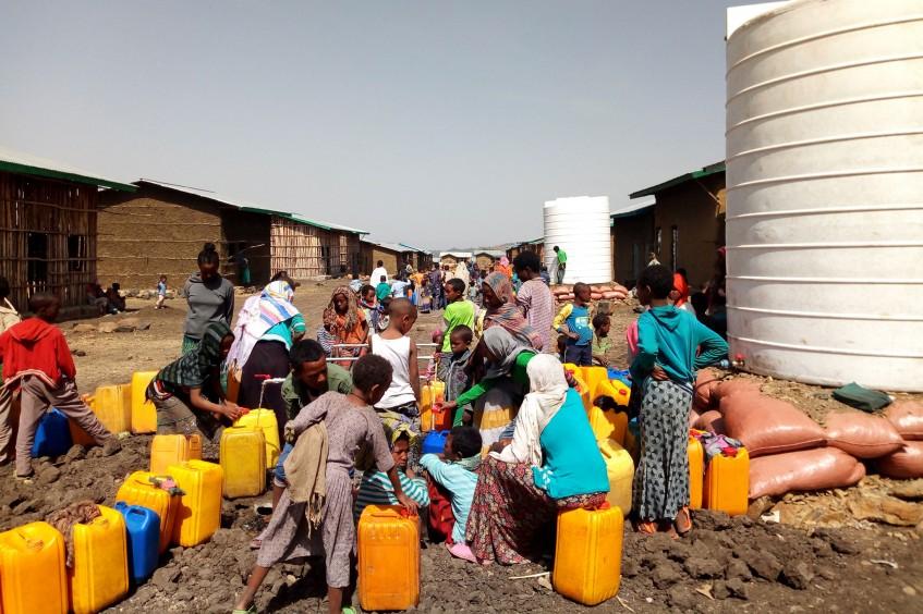 12.000 Vertriebene in Nordäthiopien erhalten Zugang zu Wasser und sanitären Einrichtungen