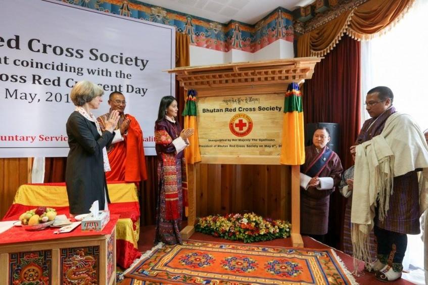 不丹红十字会于世界红十字与红新月日正式成立