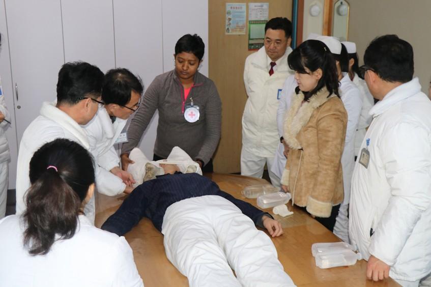 平壤医科大学附属医院急诊科支持项目