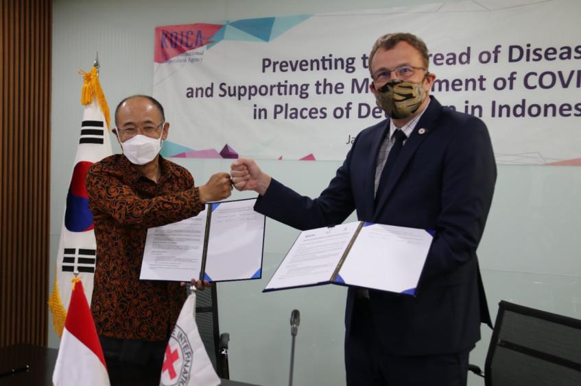 新冠肺炎疫情:红十字国际委员会与韩国国际协力团签署协议,为印度尼西亚监狱提供支持