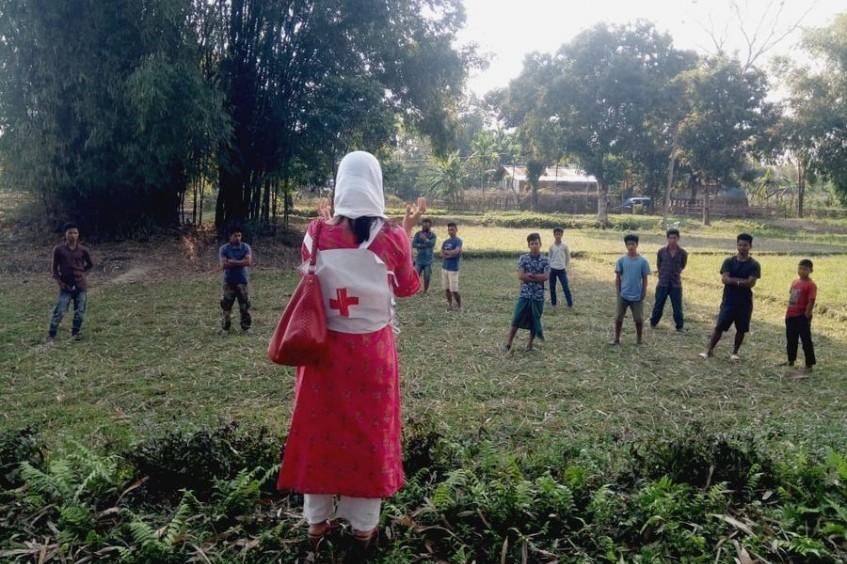 新冠肺炎:在印度红十字会志愿者的前线支持下开展统一应对行动