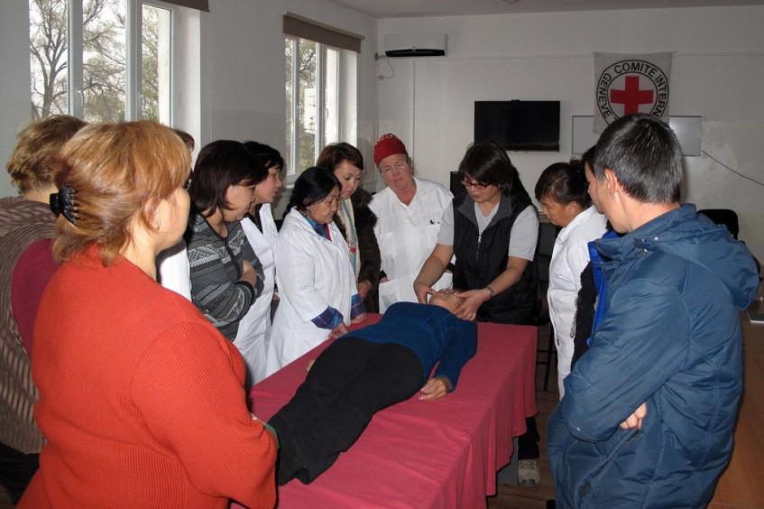 Kirgisistan: Gefängniskrankenschwestern in Institution 31 erhalten eine zusätzliche Ausbildung.