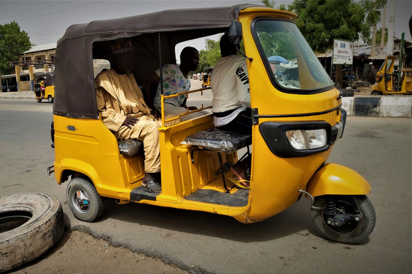 Maiduguri's keke are spreading COVID-19 prevention messages