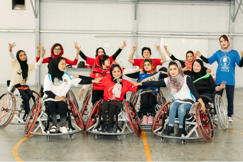Full of courage and grit, Afghan wheelchair basketballers go for the goal