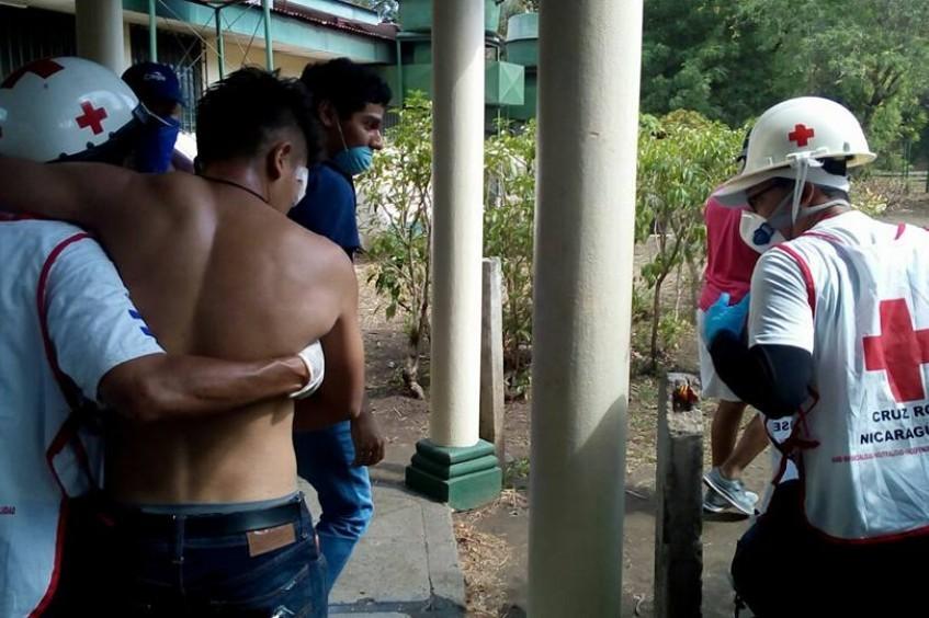 人道工作:与尼加拉瓜红十字会志愿者交流