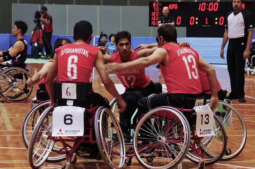 Afganistán: el equipo nacional de baloncesto en silla de ruedas compite en Japón