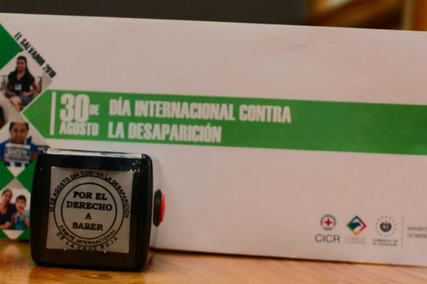 El Salvador: se lanza matasello postal para conmemorar a las personas desaparecidas en todos los países del mundo
