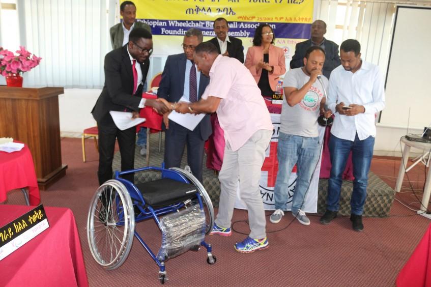 ICRC donates 170 wheelchairs to newly established Ethiopian Wheelchair Basketball Association