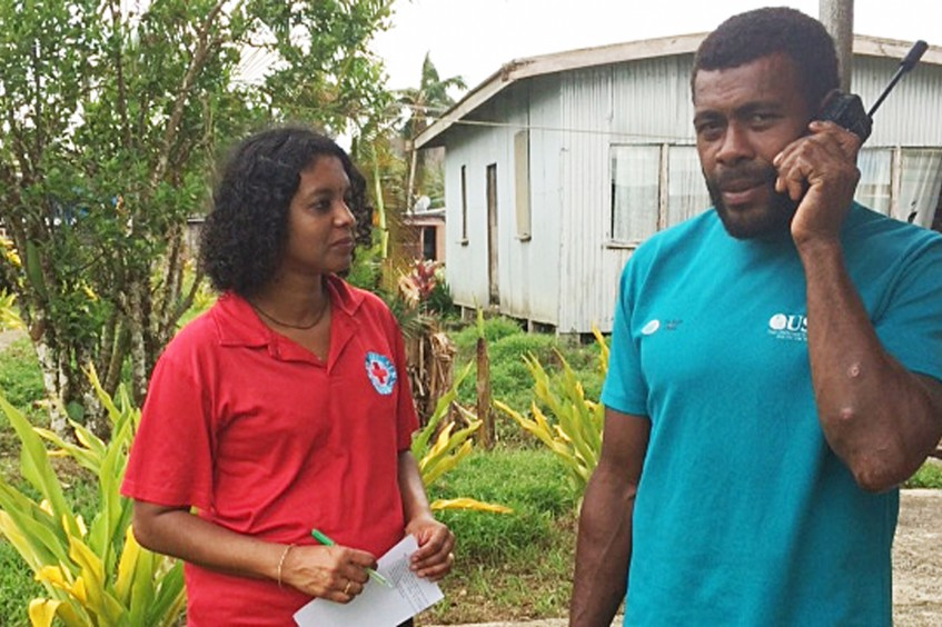 Fiji Red Cross and ICRC restore contact between families after cyclone