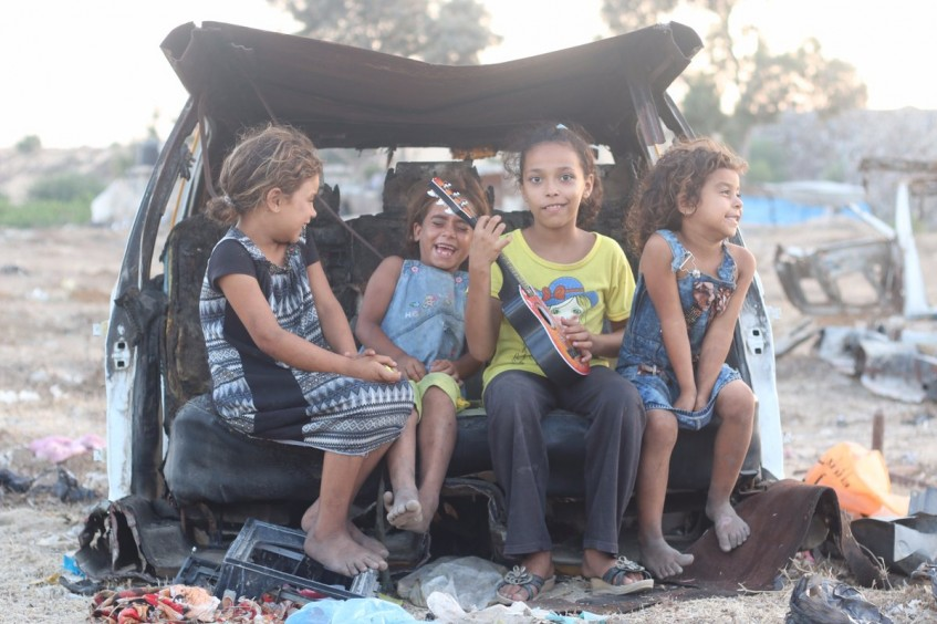 Jóvenes fotógrafos de Gaza capturan momentos de alegría