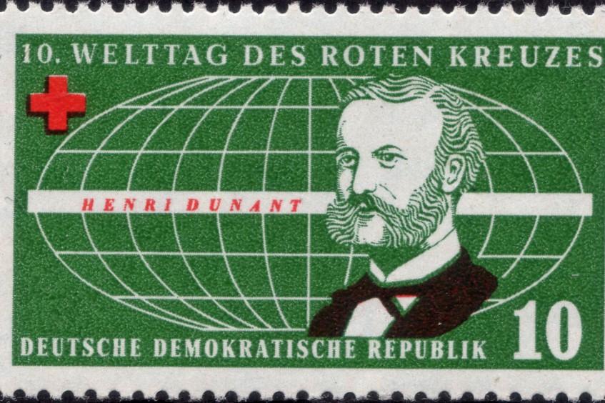 Анри Дюнан: марки, посвященные основателю Красного Креста