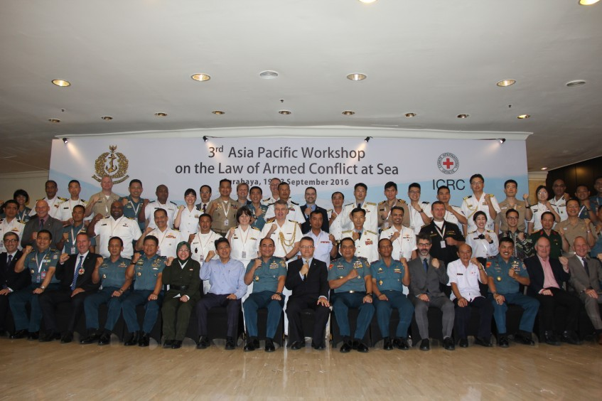 Indonesia: Naval officers from the Asia-Pacific debate the law of naval warfare
