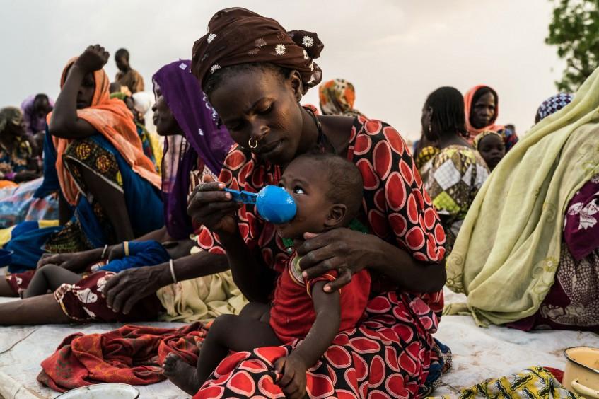 逃离尼日利亚东北部冲突的民众遭遇严重食品短缺