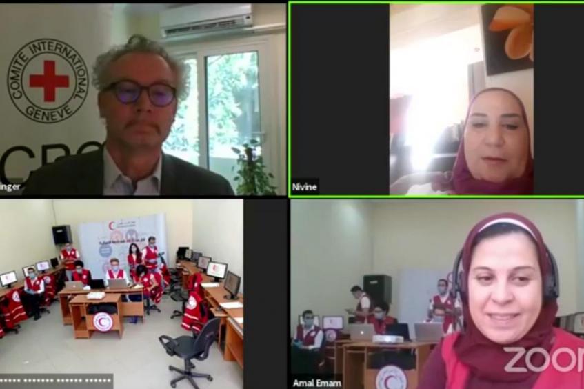الهلال الأحمر المصري و اللجنة الدولية للصليب الأحمر يحتفلان بيومهم العالمي عبر الإنترنت