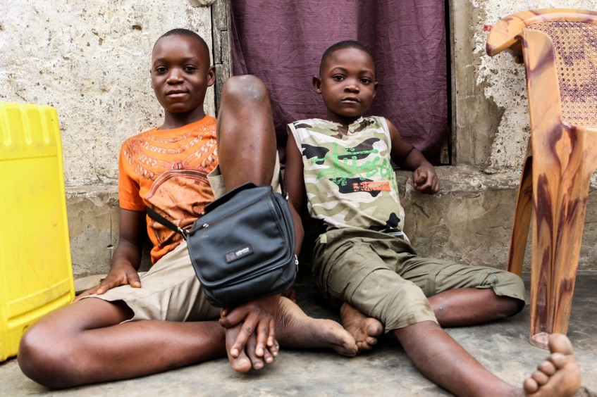 Kinshasa: A makeshift shop helps three brothers survive