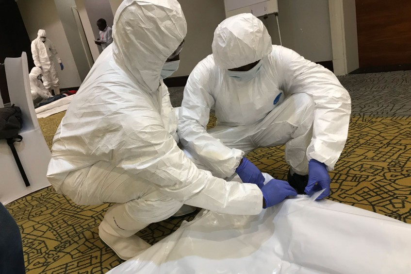 Rwandan medical professionals complete management of dead training