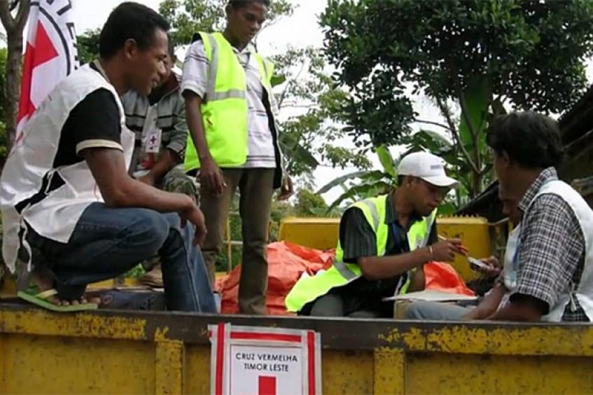 In Bewegung: Rotes Kreuz von Timor-Leste