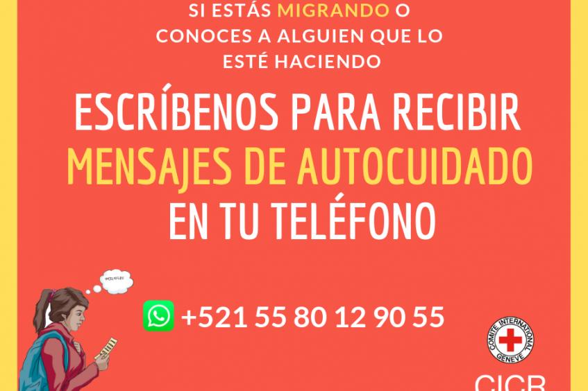 México: personas migrantes reciben por WhatsApp mensajes de autocuidado para prevenir los riesgos en la ruta