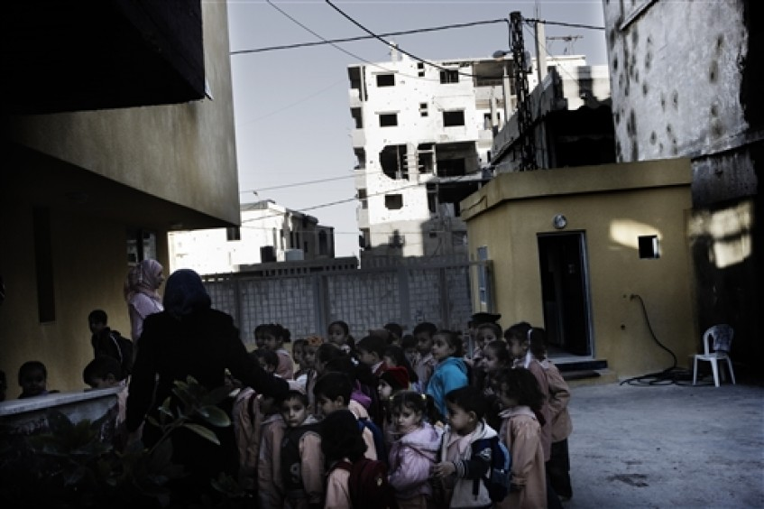 School evacuation drill in Ein el-Helweh