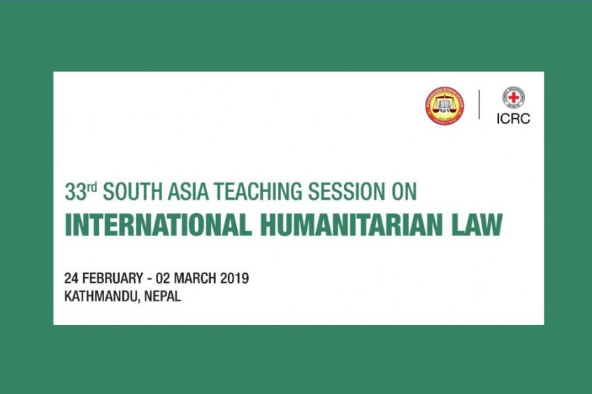 33rd South Asia teaching session on IHL to be held in Kathmandu