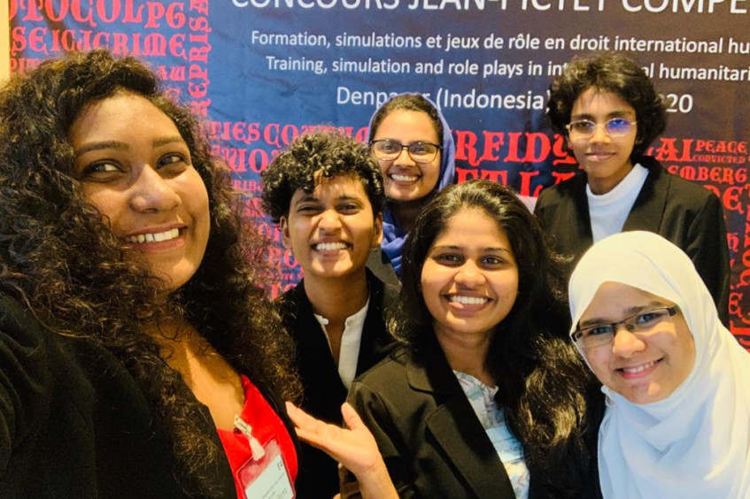 Sri Lankan students put IHL into practice at the prestigious Jean-Pictet competition