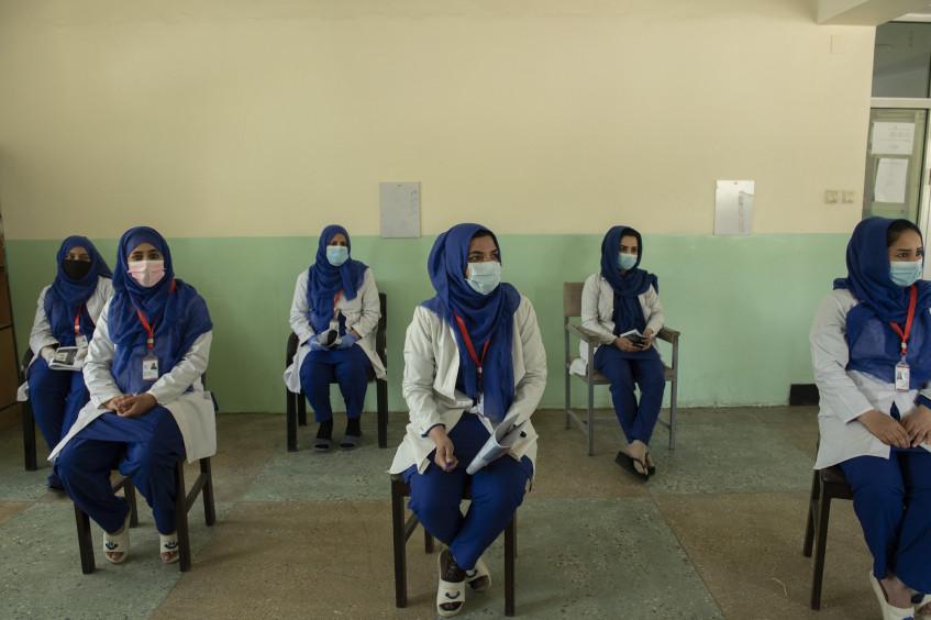 Afghanistan: Massnahmen gegen COVID-19 im Spital des Afghanischen Roten Halbmonds in Kabul