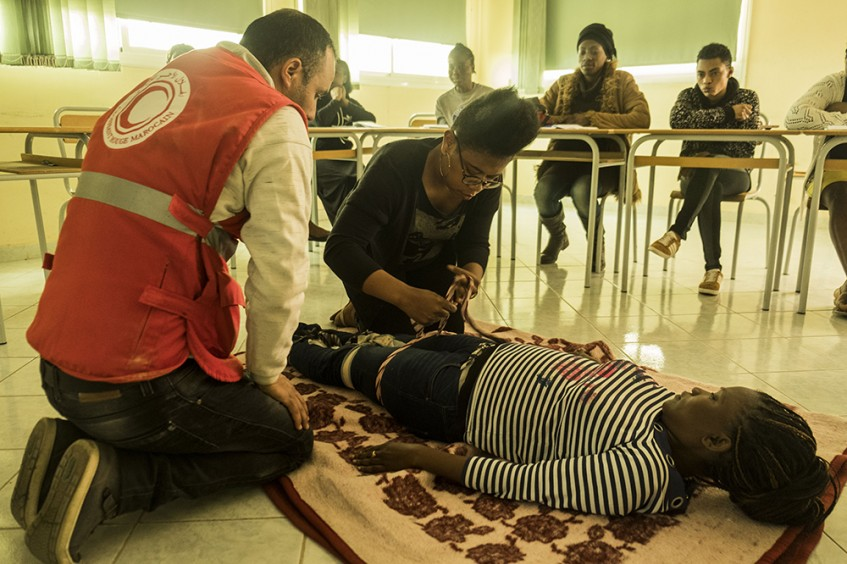 Maroc : le CICR au service des migrants