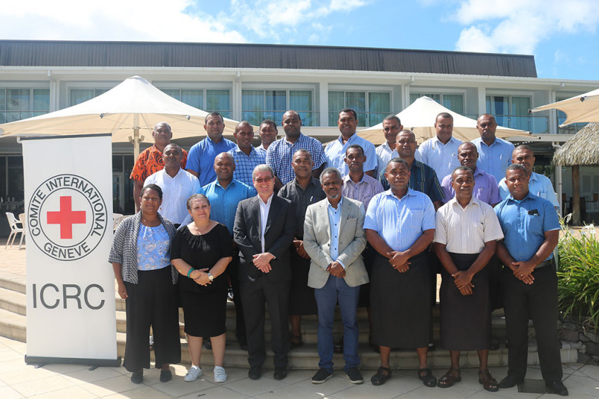 ICRC gives pre-deployment training to Fiji Corrections staff bound for South Sudan