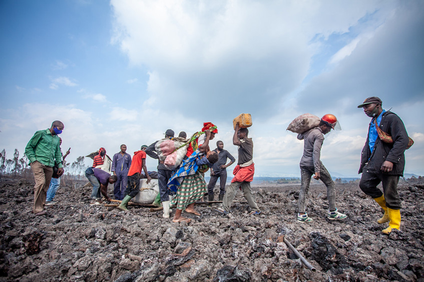 DR Congo: Huge numbers of people in dire need of assistance following the eruption of Mount Nyiragongo