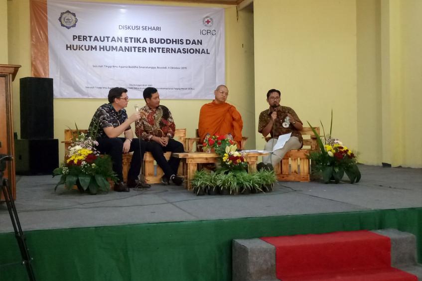 Buddhist ethics and IHL: Seminar organized by ICRC and Smaratungga Buddhist College