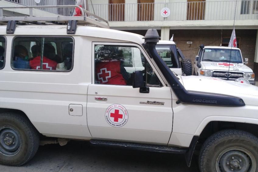 Relatório de operações sobre evacuação médica de pacientes feridos em Tigray, Etiópia