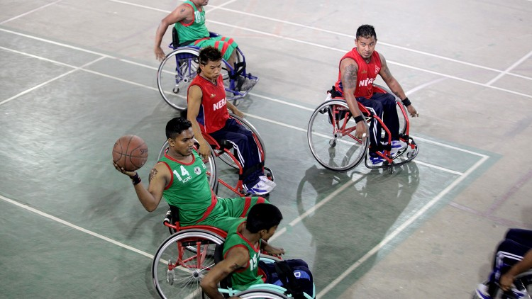 International wheelchair basketball brings Bangladeshi and Nepali players together