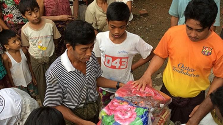 Inundações no Myanmar: CICV se une aos esforços para ajudar em Rakhine