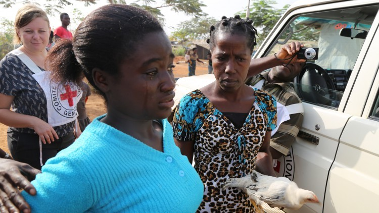 Liberia /Côte d'Ivoire: reunión de niños marfileños con sus familiares