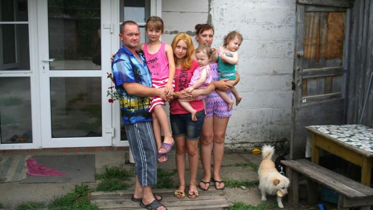 Food parcels help Ukrainian families keep hope alive