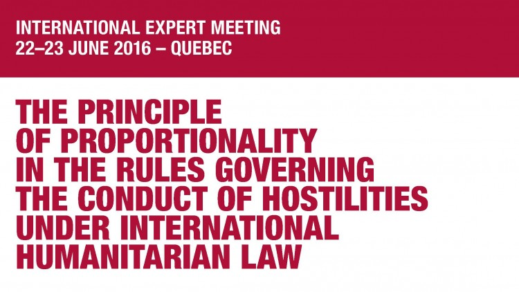 International expert meeting report: the principle of proportionality