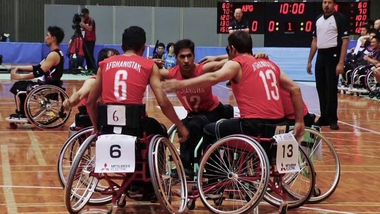 Afeganistão: seleção nacional de basquete em cadeiras de rodas compete em Japão